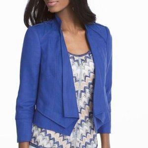 White House Black Market Linen Blue Blazer NWT